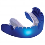 "OPRO SELF FIT MOUTHGUARDS <BR> ""GOLD"" (FOR BRACES), BLUE/PEARL"