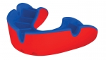 "OPRO SELF FIT MOUTHGUARDS <BR> ""SILVER"" (NO BRACES), ADULT, RED/BLUE"