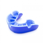 "OPRO SELF FIT MOUTHGUARDS <BR> ""SILVER"" (NO BRACES), JUNIOR, BLUE/LIGHT BLUE"