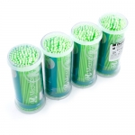 MICROBRUSH DISPOSABLE APPLICATORS, GREEN