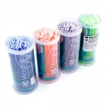 MICROBRUSH DISPOSABLE APPLICATORS, MULTI-COLORED