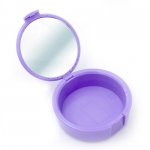 MIRA CASE RETAINER CASES W/MIRROR, Violet