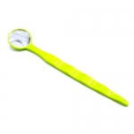 DYNAFLEX® COLORED DISPOSABLE MOUTH MIRRORS, Neon Green
