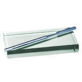 GLASS SLAB & METAL SPATULA