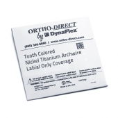TOOTH COLORED NICKEL TITANIUM WIRE <BR> LABIAL ONLY COVERAGE<BR>10 PACK