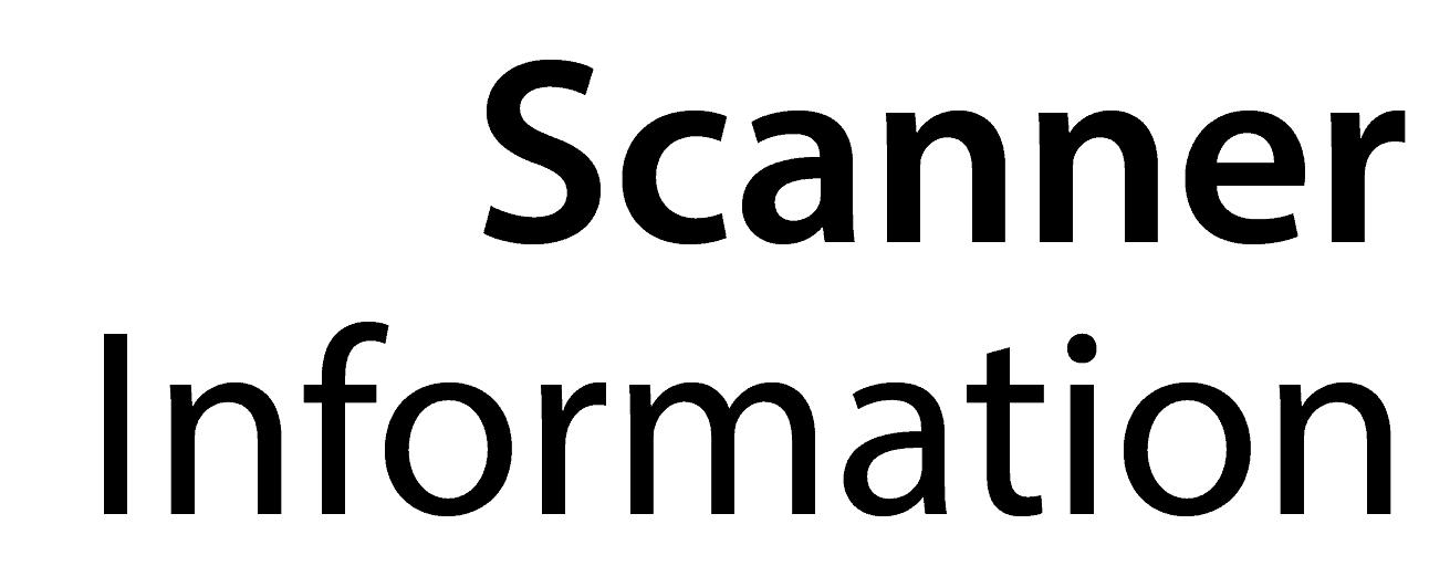 Scanner Information